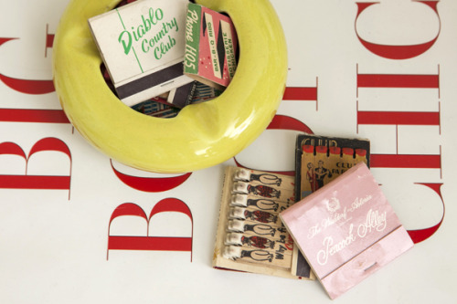 matchbookmag:  Matchbooks on Jane Lilly Warren's coffee table… (photo: Courtney Apple / Matchbook March '13)