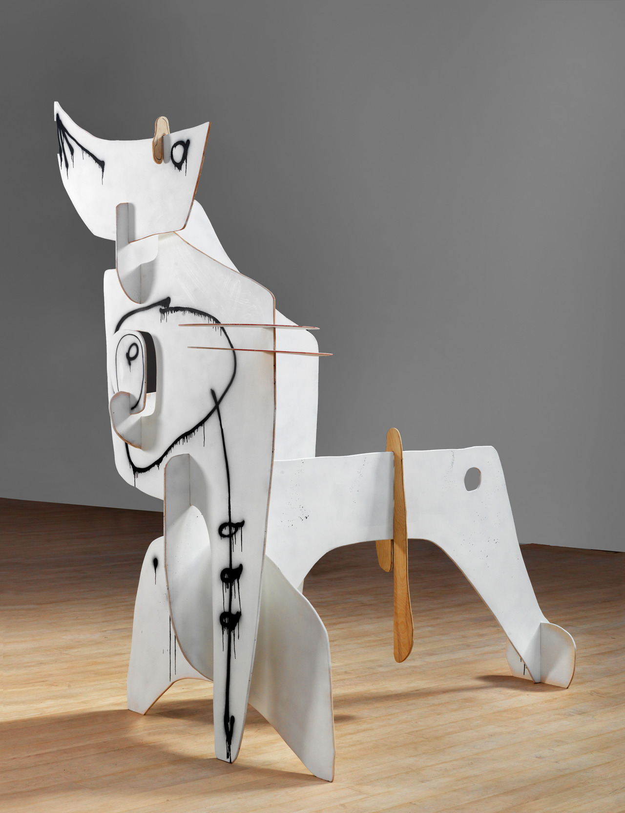 Arron Curry, Phantom, 2010 painted wood, 111 × 112 × 80 inches Download Image Visit Source @ michaelwerner.com