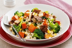 Tofu and vegetable brown rice salad