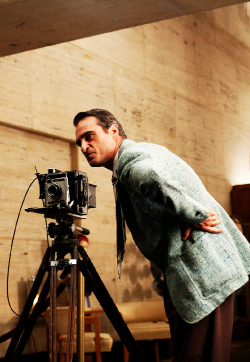 Joaquin Phoenix on the set of The Master, 2012.