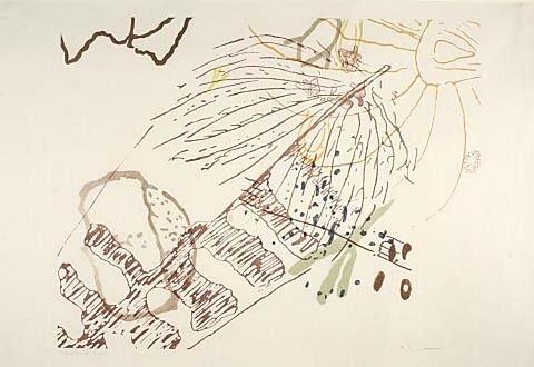 goodmemory:  John Cage, Thoreau drawing
