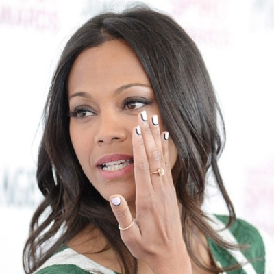 "#ZoeSaldana at the 2013 #SpiritAwards w/ #nails by @jennahipp using @Mpnails ""Orbit Ring"" #nailwrap designed especially for @shopncla x @nailinghollywood #collab #nclaxnailinghollywood. Get yours today $16 www.shopncla.com"