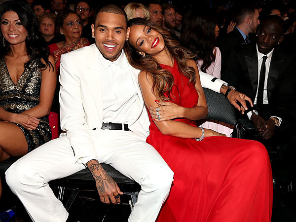 RIHANNA + CHRIS BROWN  GRAMMY'S 2013. photo credit|christopher polk|getty