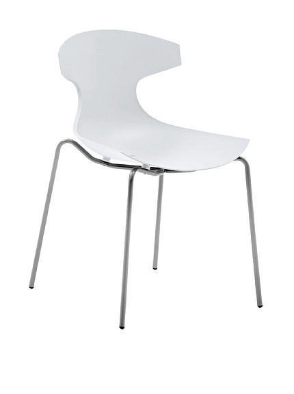 "Domitalia Echo Chair, White  Echo is Domitalia's best-selling design, suitable for indoor and outdoor use, stackable Material type: Steel, Polypropylene Country of origin: Italy Authentic product  Item Dimensions: height 32.5"", width 21.5"", depth 21.75"" Price: $139"
