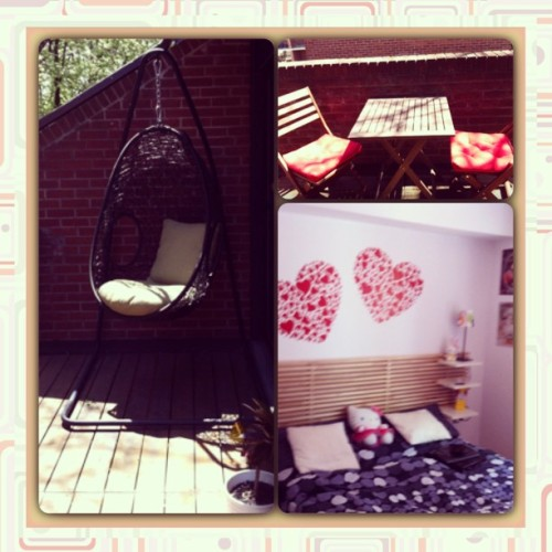 Me and #jonlam are staying at the #hellokitty place at #airbnb for the weekend for torture garden #toronto :)