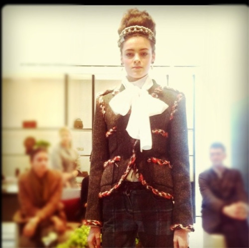Scottish influences at Chanel pre-fall. Photographed by Sheena Smith.