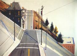 Wayne Thiebaud - 24th Street Intersection (1977)
