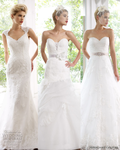 weddinginspirasi:  Our top 3 picks from Moonlight Couture Spring 2013 Bridal Collection.