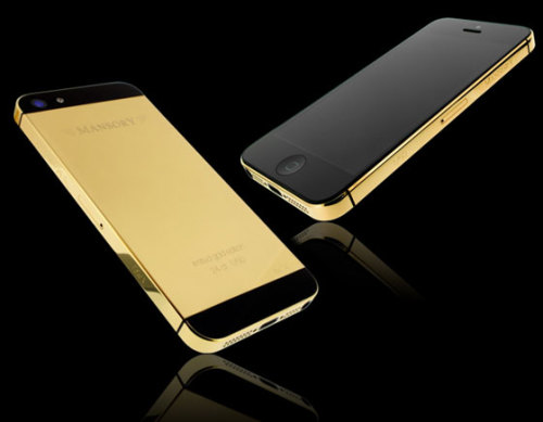 MANSORY and Golden Dreams unveiled a limited edition 24 ct gold iPhone5 64GB