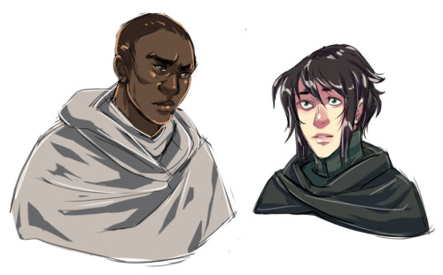Arden and Shei, roommates/pen pals/unrequited palemates/potential boyfrens, don't ask me how eveni DnD'd Shei one time and things just got out of control really quicklythere was a magic fish and everyone died