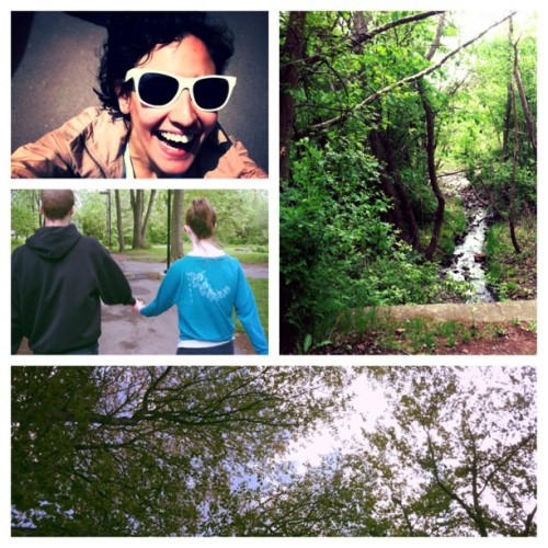 Days with friends #nature #dancers #green #spring #tilltheend #hashtag #sunglasses #trees