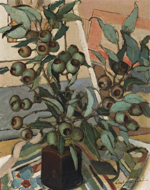 peira: blastedheath: Constance Stokes, Green Gum Nuts, circa 1933. Oil on Canvas, 50.5 x 40.5 cm.
