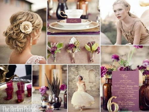 purple and gold color palette