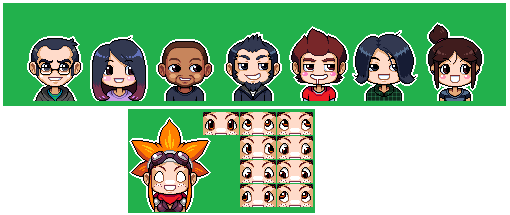 dorirupanchi:  Cute little avatars I did for all of the Cryamore team! For what they will be used for, is yet to be seen :O!  Haha, Jordan killed these!