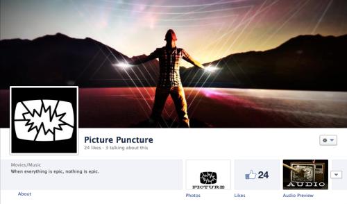 Picture Puncture on facebook This is a new movie trailer music thing I'm working on, kinda behind the scenes yet and definitely early days… it's coming in full later this year to my music licensing company The License Lab but I figured maybe some of my fellow music biz peeps here on tumblr might want an early look and a preview listen. So check it out and if you want to stay up to date with the launch specifics, click ye olde LIKE button and help a tumblrmate get over that all important threshold of 30 so we can grab a permanent facebook url and ramp up to this spring's official release. Yay social marketing. Enjoy!