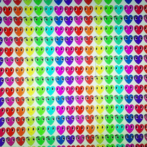 Having fun with #chrisuphues #hearts ! #sneakpeak #popart #rainbow #casepops