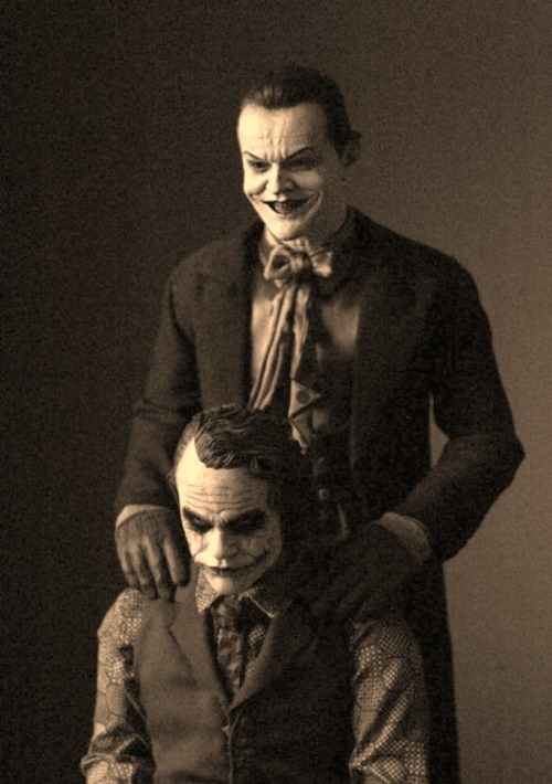 Two Jokers in the same photo (via)