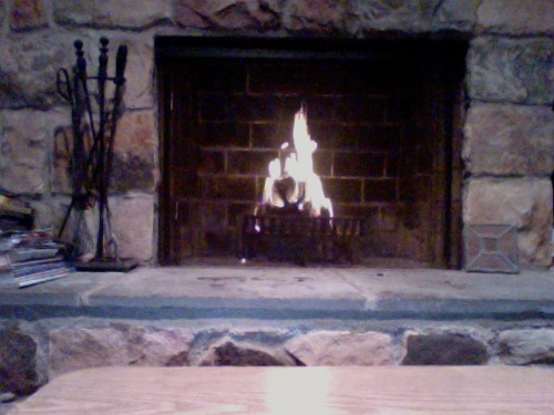 After last night's bonfire, I'm actually going to start using my fireplace.