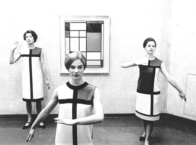 opium-tea:  Piet Mondrian dresses by Yves Saint Laurent, 1966