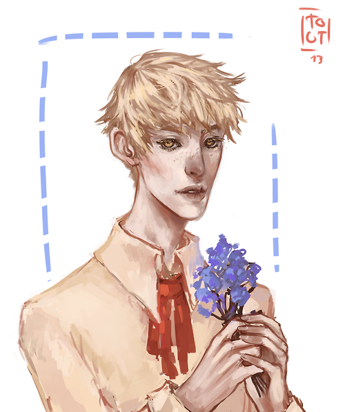 """reallyamazeballs: Blonde Fay because you are awesome and he is preciousand your tutorials are perffI hope i didn't ruin him ;A; WKLJLKSJF OMIGOSH YOUR STYLE IS SO LOVELY I REALLY LIKE HOW YOU DREW HIS FACE SCREAMS SKJDLJFS I CAN""""T DESCRIBE IT EXACTLY BUT YOUR BRUSHSTROKES and colors are really PRETY CRIES A LOT YOU DIDN""""T RUIN HIM YOU MADE HIM TEN TIMES BETTER I LOVE IT SOSO MUCH THANK YOU SO MUCH LIES DOWN OMIGOD I CNA""""T HANDLE THIS WWW I""""M STILL SCREAMiNG THIS IS GORGEOUS"""