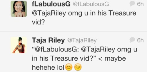 "rhapsodyincolour:  Taja Riley in Bruno's ""Treasure"" music video"