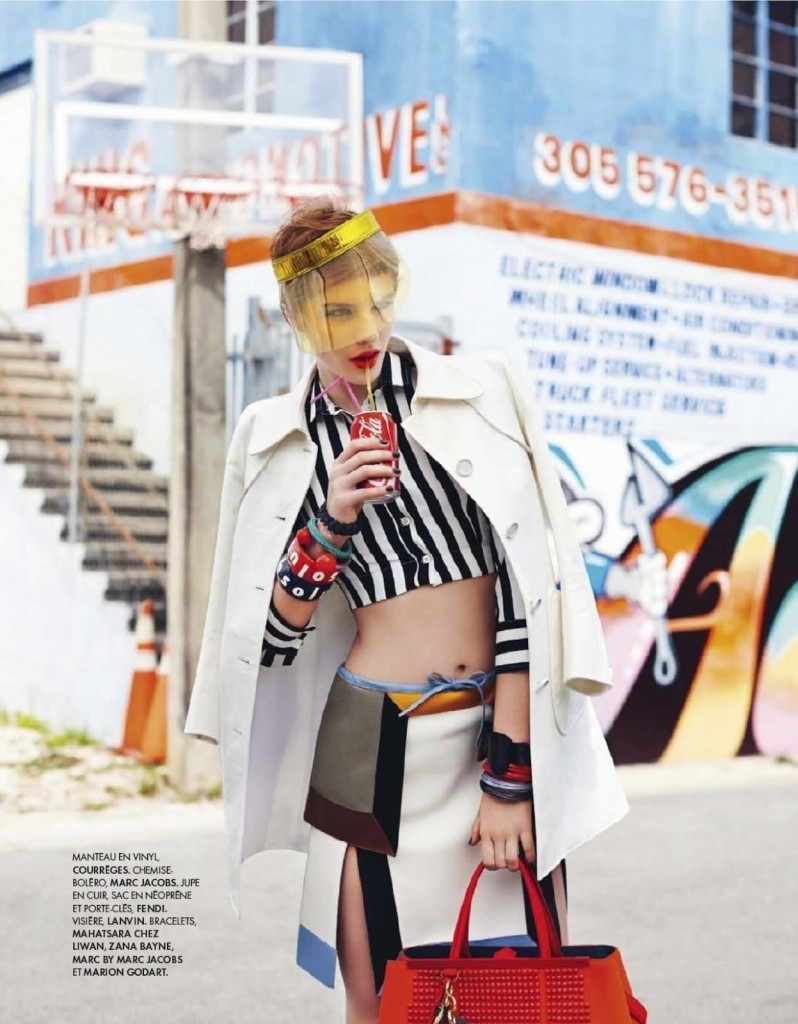 leahcultice:  Asia Piwka by Ben Morris for Elle France April 2013