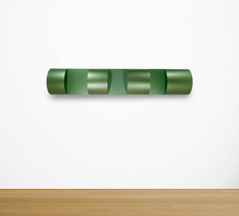 heathwest:  Donald Judd Untitled, 1967 Green lacquer on galvanized iron 14½ x 76½ x 25½ inches