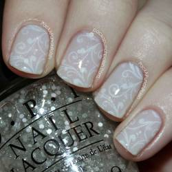 packapunchpolish:  Fairy tale nails anyone? I LOVE the way this turned out! So delicate and dainty! Tutorial:  http://youtu.be/d_3p_4l9_iI Full Blog Post: http://www.packapunchpolish.com/2013/01/delicate-fairy-tale-nail-art.html