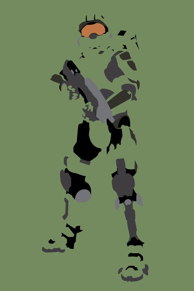 Halo - Master Chief Available on society6 by TracingHorses