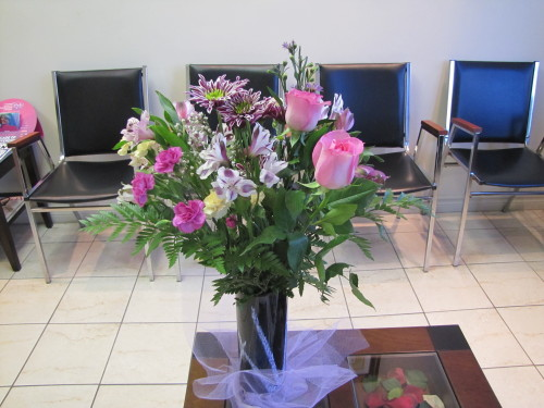 "I had flowers delivered to my mom's office for mother's day on Tuesday (because she didn't work on the Monday). I'm a little proud because it was my first mother's day gift to her that I could pay for using my own money I earned from work. She sent me a text when she got them:   ""Very surprise. Thank you my son for beautiful flower.""  I also sent a message with the flowers signed ""Love your son, Ryan"". See the subliminal message I put there?"