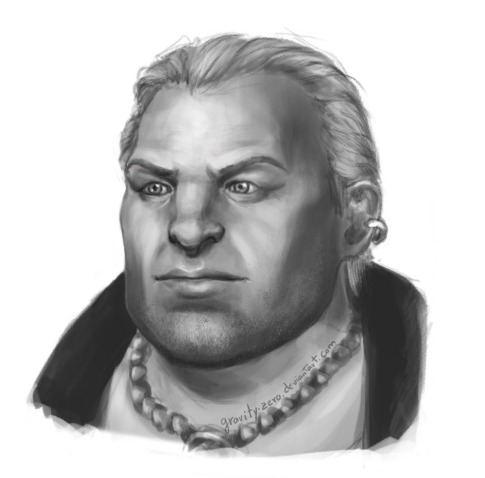 "croissant-au-chocolat:  """"How do you do? Varric Tethras at your service"""""