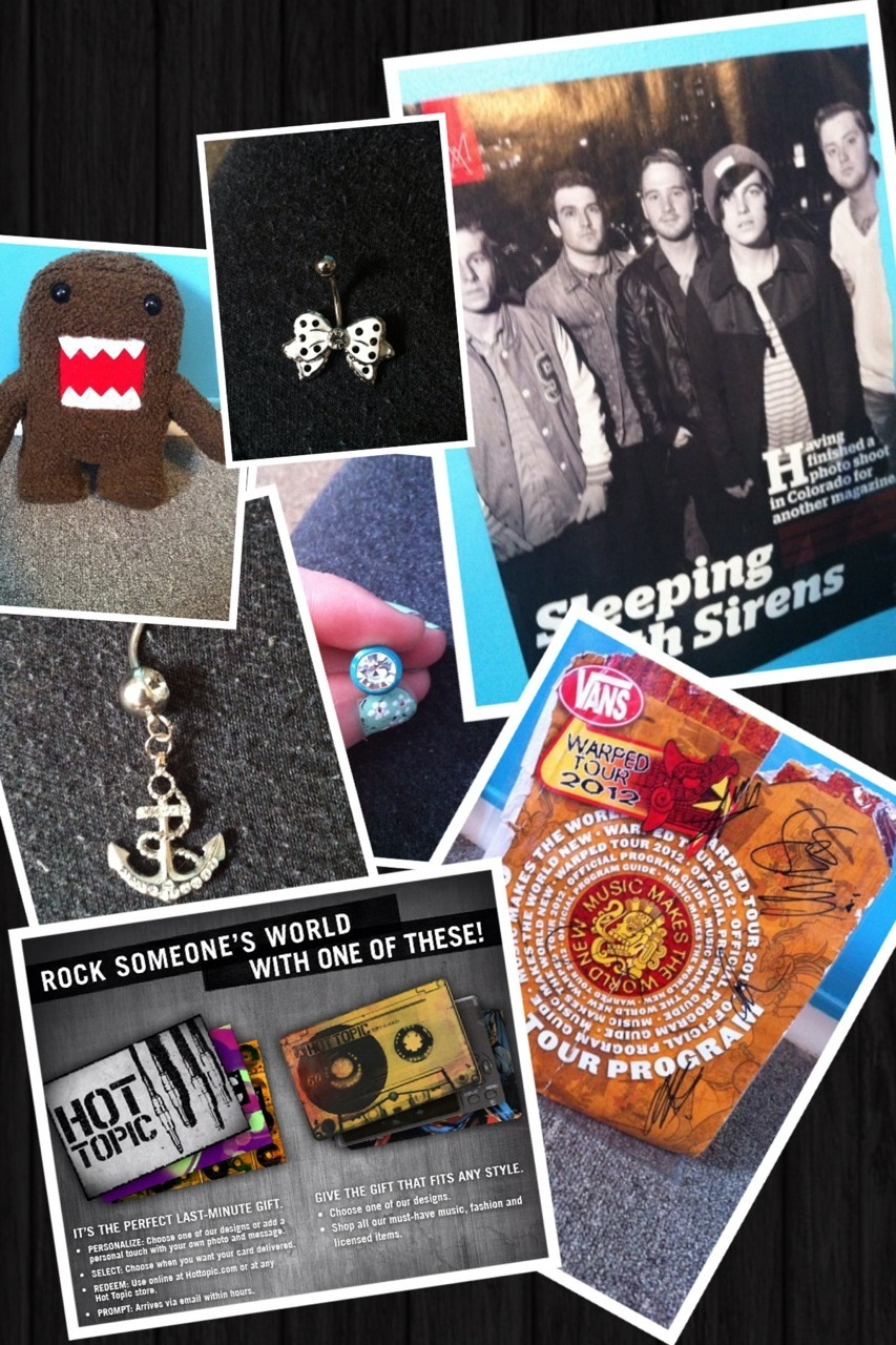 be-the-worst-you-can-be:  GIVEAWAY!!! •plush domo  •bow belly ring  •sleeping with sirens poster •anchor belly ring  •0g diamond plugs •signed You Me At Six poster  •hot topic gift card The winner gets to choose 2 of the prizes listed above of their choice! RULES: 1)MUST be following my tumblr I will be checking! : http://be-the-worst-you-can-be.tumblr.com  2) You can like and reblog as many times as you want to  3) don't be mad if you're not chosen! The WINNER will be CHOSEN at random on Friday March 29th 2013! Have fun and good luck!