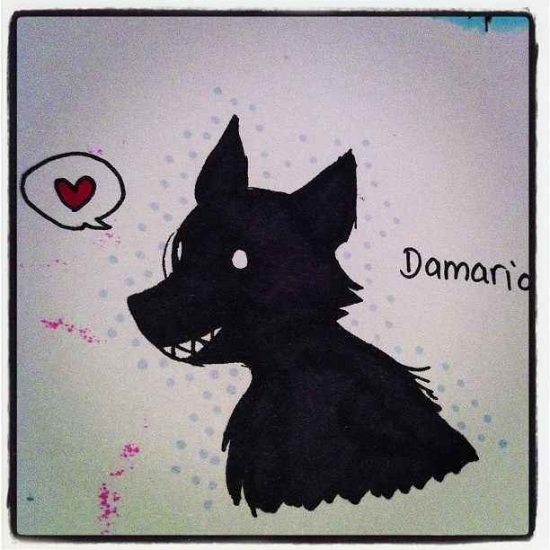 Damario, the world's cutest black shuck! #skywriter #comic