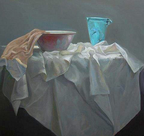 Petra Reece Still Life with Aqua Vase 2011