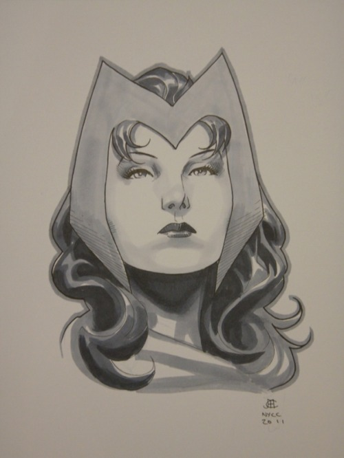 keaneoncomics:  Wanda by Cheung, produced at NYCC 2011.