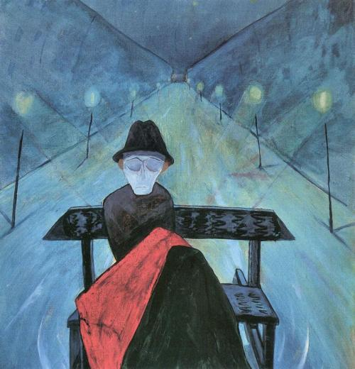 poboh:  The man in the carriage II, Walter Gramatte. German Expressionist Painter (1897 - 1929)