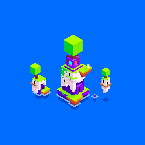 "madeinhexels:  Hexels artwork made by Phil Fish, creator of FEZ: ""have you tried HEXELS yet? it's pretty fantastic! here's a little piece of HEXELS art by your's truly to celebrate the release of FZ: Side Z!"" - Phil (via @Polytron)"