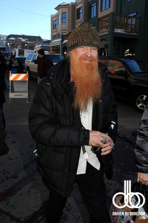 My Christmas present to you is one of the dudes from ZZ Top.