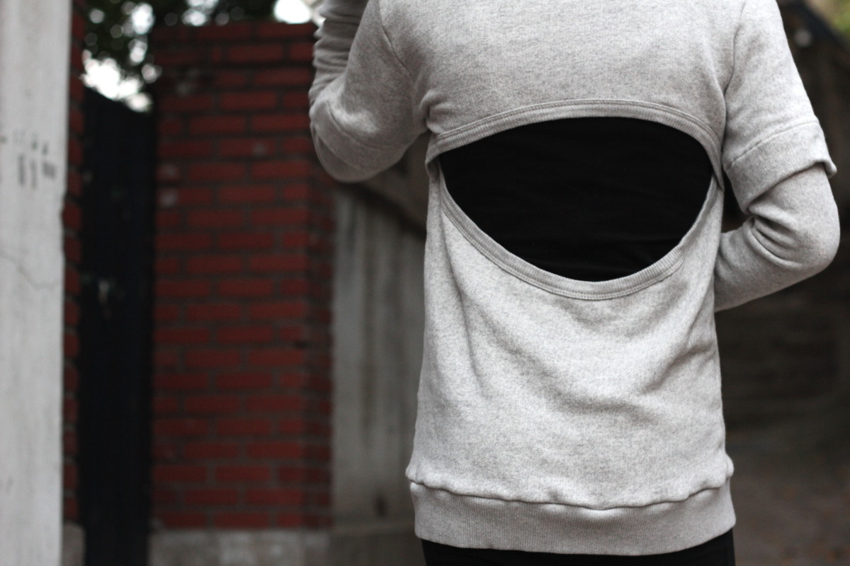 travis taddeo flashback pullover sweater canadian designer