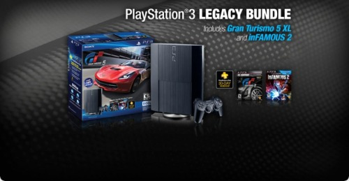 PlayStation®3 Legacy Bundle 500GB Limited Edition | Gran Turismo® 5: XL Edition and inFAMOUS™ 2(via piccsy.com)