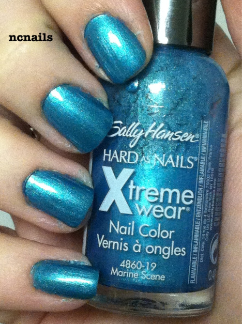 Marine Science- Sally Hansen  Also a dupe for another polish that I have: Maybelline's Timely Turquoise