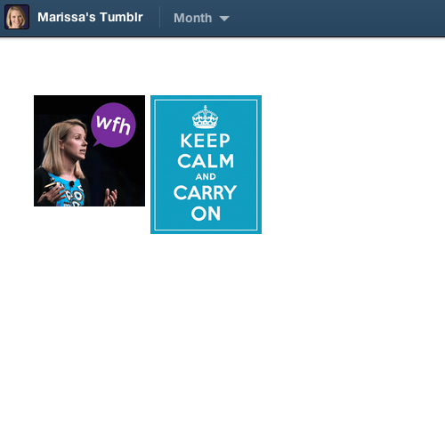 Marissa Mayer's Tumblr archive, both of it. Not to be confused with this.