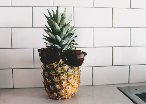 pinkrebeccca:  You will never be As cool as a pineapple wearing sunglasses