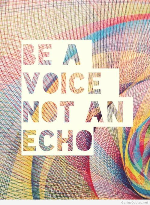 Be a voice hd wallpaper with quote
