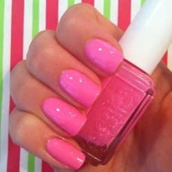 Love my new color! I feel like Barbie. 😊💗@essie_polish #essie #boomboomroom #nailpolishaddict