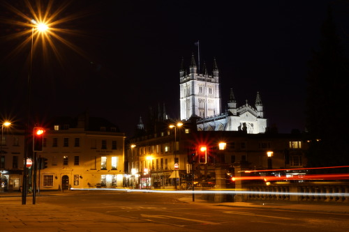 Night time in Bath