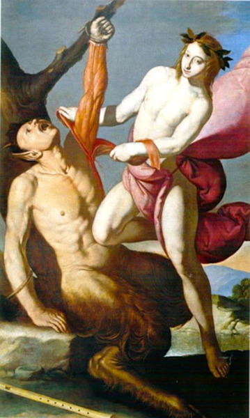 necspenecmetu:  Antonio de Bellis, Apollo and Marsyas, 17th century  That is the sassiest damn angel I have ever seen. Skinning hellions. Deal with it, bitches.