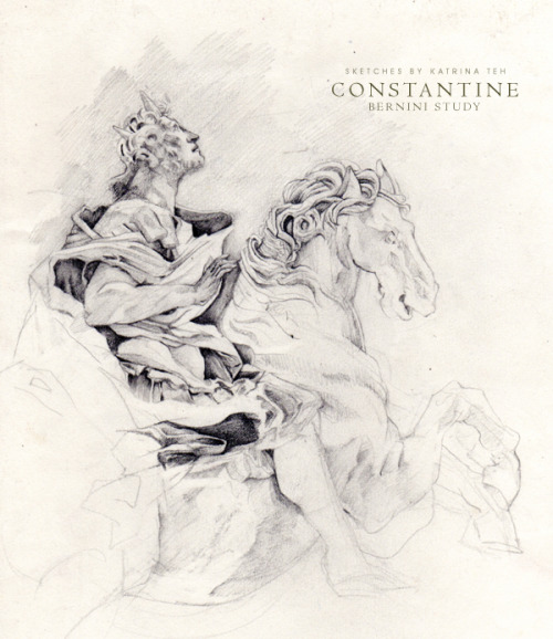 ConstantineCLICK IMAGE FOR FULL VIEW I love Bernini. Did I ever mention that here? I positively adore him. It has been one of my dreams to go to Italy to see his work- to stare in awe with a quivering hand, desperately trying to capture everything in pencil