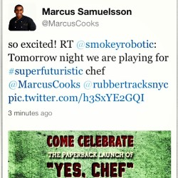 Smokey Samuelsson tomorrow night.