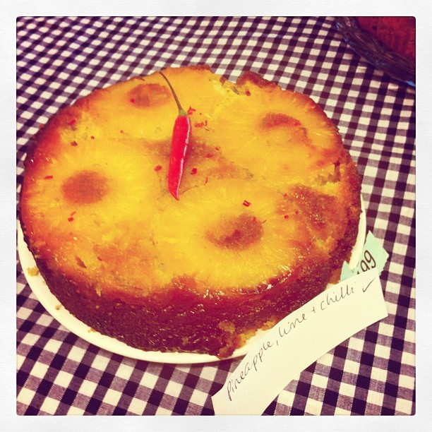 My pineapple and chilli upside down cake for tonight Great SHWI Bake Off!